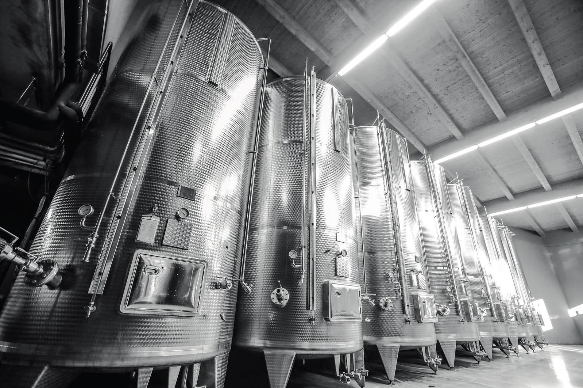 Pescaja vini Serbatoi inox per vino